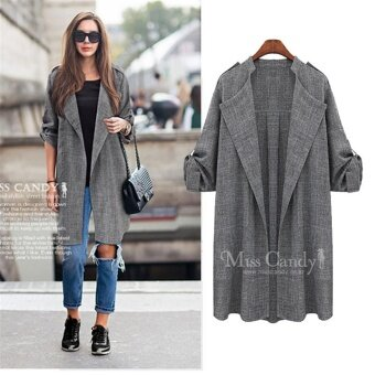 Women's Plus Size Coat Jacket Women Wind Coat Trench Coat PlusCoats Jackets - intl