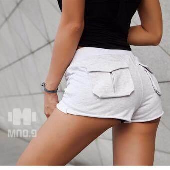 ซื้อ/ขาย กางเกงวิ่งขาสั้น แบบมีกระเป๋าหลัง สำหรับผู้หญิง Women s Running Shorts pants (สีเทาอ่อน/Grey)