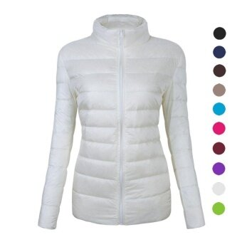 Women's Ultra-Lightweight Stand Collar Down Cotton Jacket Coat -intl