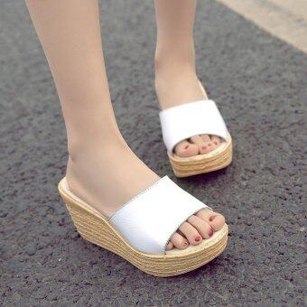 Women's wild Wedge Mules Fashion casual high heels sandals - intl