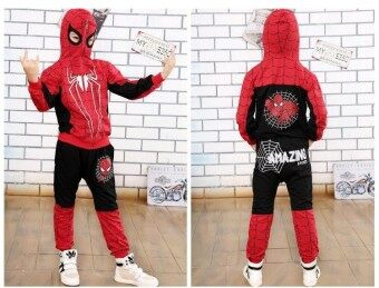 Wonderful Power Newest Hot Products Spider Man Costume Kids Halloween Costume Children's Clothing Hooded sweater -Multicolor-150cm(7-8Years) - intl