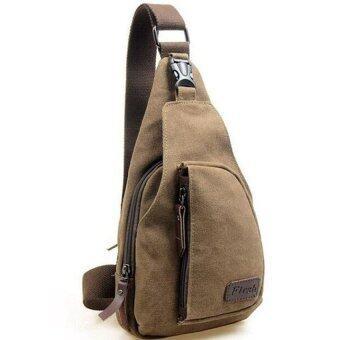 wonderful กระเป๋าคาดอก Size L(35x20x7cm) Travel Shoulder Bag มี 3 ช่อง - Khaki/กากี