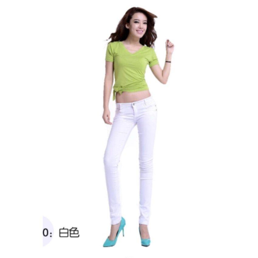Wonderful Story fashion กางเกงบางแบบบาง (สีขาว)