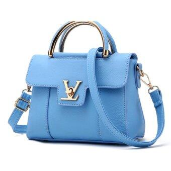 Wonderful story กระเป๋าสะพายข้าง กระเป๋าเป้ผ้าไนลอน V2- (Blue)