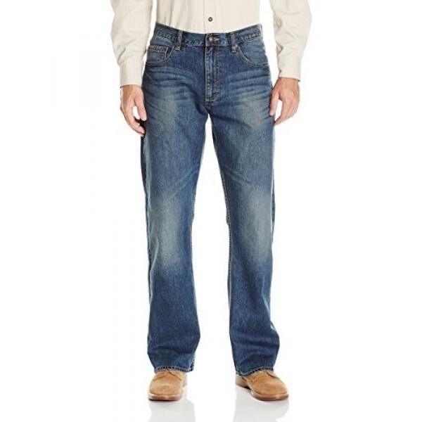 Wrangler Mens Authentics Premium Relaxed Bootcut Jean, Medium Indigo, 32x32 - intl