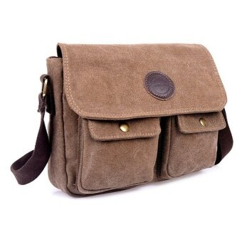 YSLMY V SHOW Travel Bag Men's Messenger Bags Canvas-Coffee - intl