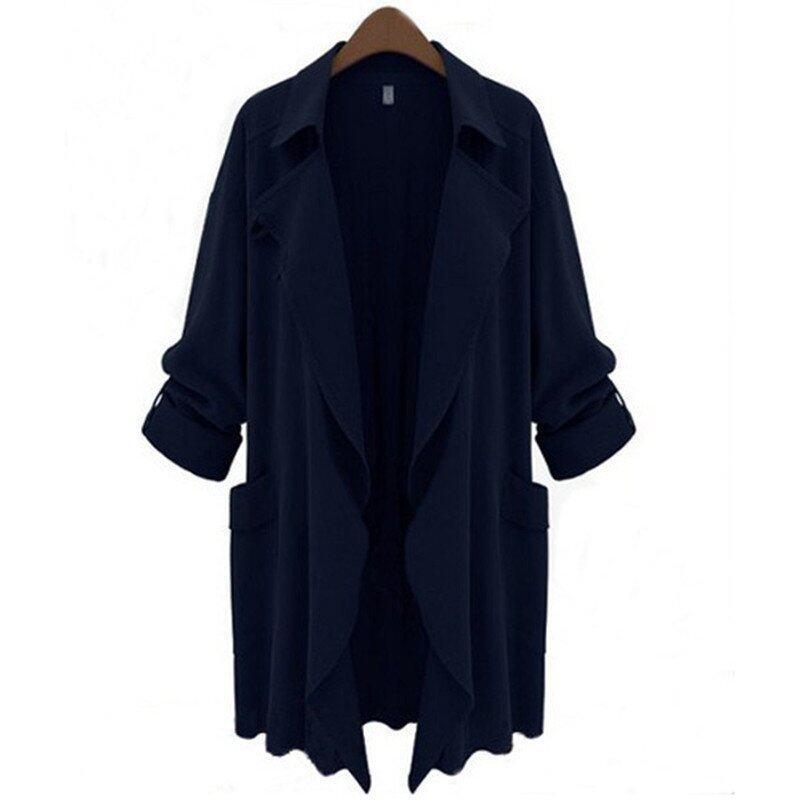 ZANZEA ปกเสื้อคาร์ดิแกนเสื้อแจ๊คเก็ตผู้หญิงเสื้อแจ็กเก็ตเสื้อนอกยาวเรียว