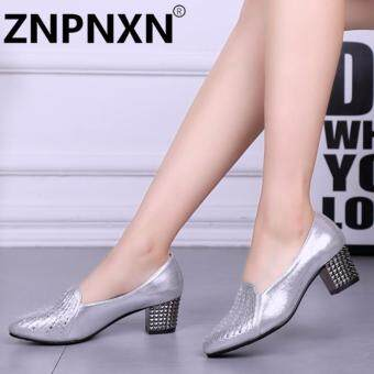 ZNPNXN Fashion New Shallow Shoes Ladies With Dance Shoes(Sliver) - intl