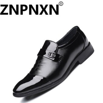 ZNPNXN Men'S Shoes Business Men'S Shoes (Black) - intl