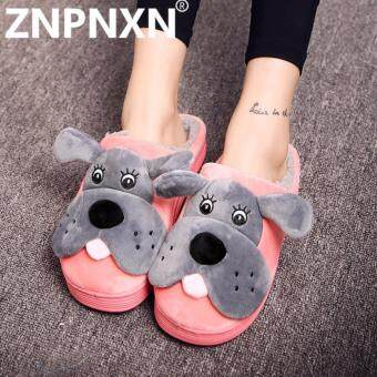 ZNPNXN New Winter Cute Warm Cotton Shoes Women Home Cotton Drag (Red) - intl