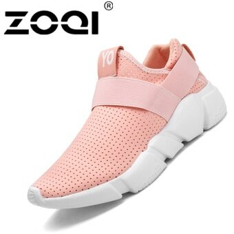 Harga ZOQI Unisex Running Shoes Light Breathable Sneaker SportShoes(pink) - intl