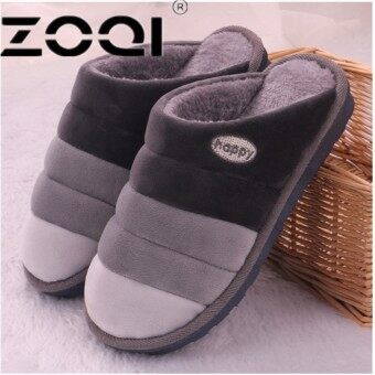 ZOQI Women And Men Winter Warm Fur Slippers Cotton Sheep Lovers Home Slippers Indoor Plush Size House Shoes - intl