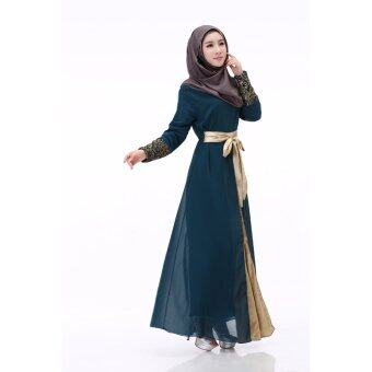 ZUNCLE Muslim Women dress stitching(Dark Blue)
