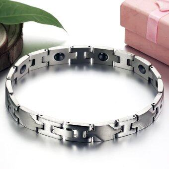 Harga 1 PC Magnetic Stone Bracelet Health Care Titanium Chain Braceletfor Women - intl