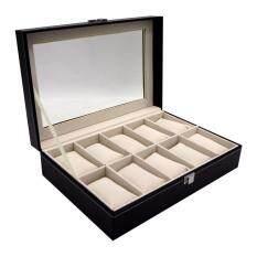 กล่องนาฬิกา กล่องใส่นาฬิกา กล่องนาฬิกาข้อมือ หรูหรา พรีเมี่ยม สำหรับ 10 เรือน