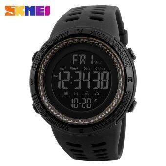 1251 SKMEI นาฬิกาผู้ชายแฟชั่นกีฬานาฬิกา Chrono นับถอยหลังผู้ชายกันน้ำดิจิตอลนาฬิกาคนทหารนาฬิกา Relogio Masculino - นานาชาติ