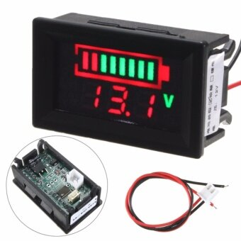 12V Lead-acid Battery Indicator Intuitive Voltage LED Display MeterTester - intl