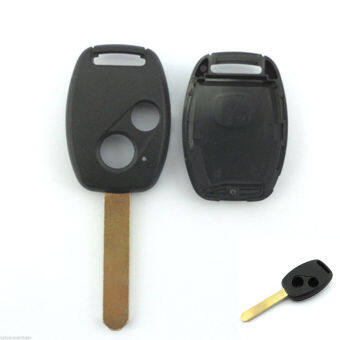2 Button Uncut Blade Remote Key Fob Shell Case For Honda Accord CRV Civic Pilot - Intl