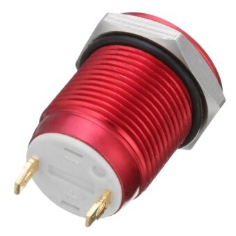 2 Pins 12mm 5A Stainless Steel Push Button Momentary Switch ON OFF Car Boat (Red) - intl - 2