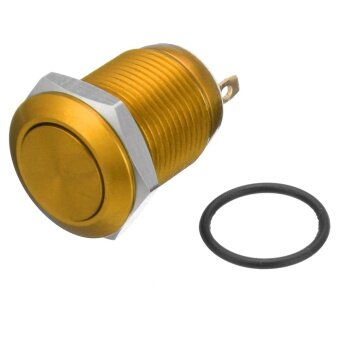 2 Pins 12mm 5A Stainless Steel Push Button Momentary Switch ON OFF Car Boat (Yellow) - intl
