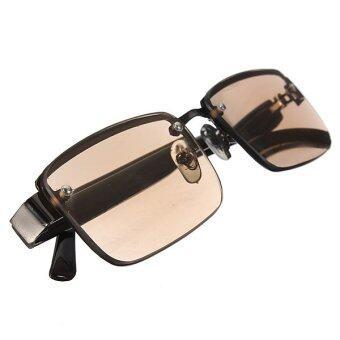 สีน้ำตาลแฟชั่นแว่นตากันแดดแว่นผลึก+2.0 แก้สายตา - intl