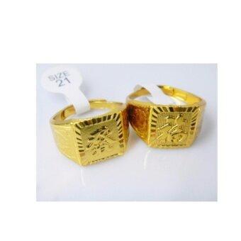 แหวนทอง 2017 หุ้มทองคำแท้ 100 % เครื่องประดับงานสวย