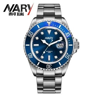 2017 Luxury Fashion Mens Watch ???????????? es Quartz Steel Waterproof Diver NARY Top Brand sport Wrist Watch ???????????? For Man 18099