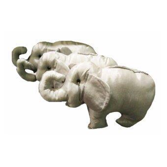 หมอนช้างผ้าใหมจีนขนาด 22x40CM ช้างเงิน พิเศษก่อนตรุษจีน ซื้อ1แถม1ใยสังเคราะห์เกรดพรีเมี่ยม มี2สีให้เลือก เหมาะสำหรับเป็นของฝากของขวัญ หรือใช้ในห้องนั่งเล่น บนโซฟา ใว้กอด ใส่ตู้โชว์สัญลักษ์ของเมืองไทย