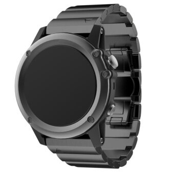 26mm Width Classic Stainless Steel Metal Strap for GarminBand,Metal Band for Garmin Fenix 3,BLACK - intl
