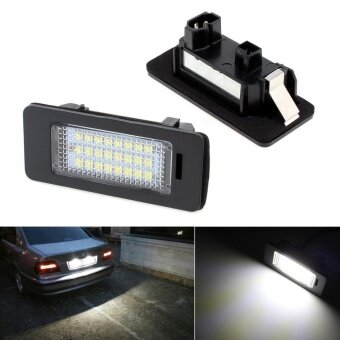 2pcs 12V SMD3528 Car LED License Plate Light Xenon White Color Lampfor BMW E39 E60 E61 E70 E82 E90 E92 - intl