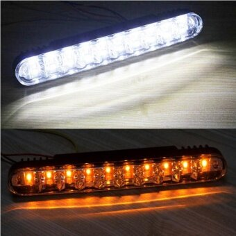 2x 30 LED Car Daytime Running Light DRL Daylight Lamp with TurnLights - intl