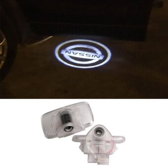 2X Car Door Light Ghost Shadow Welcome Light Logo Projector emblemFor N ISSAN Murano SYLPHY X-Trail Old Teana 04-07year - intl