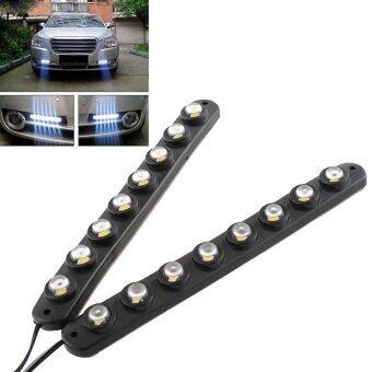 2x Car Van 8 LED Safe DRL Daytime Running Light Daylight Fog LampDC12V - intl