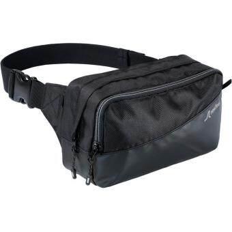 รีวิว กระเป๋าคาดเอว สีดำ ซิป 3 ช่องและช่องด้านใน 2 ช่อง กระเป๋าขี่มอไซด์กระเป๋าปั่นจักรยาน