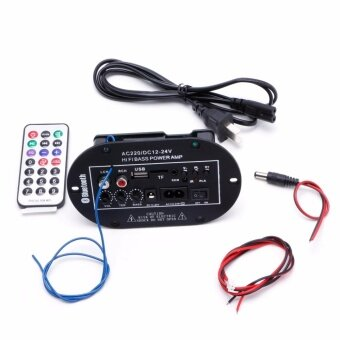30W Car Bluetooth Subwoofer Hi-Fi Bass Amplifier Board Audio TF USB220V/12V/24V - intl