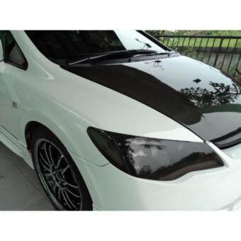 ฟิล์มติดโคมไฟรถยนต์ - สีรมดำ ขนาด 40*200 cm. รูบที่ 3