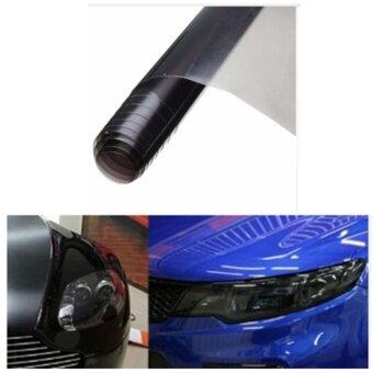 ซื้อ ฟิล์มติดโคมไฟรถยนต์ - สีรมดำ ขนาด 40*200 cm.