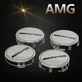 4pcs 75mm AMG logo Auto Car Wheel Center Hub Cap Wheel Badge emblem covers For BENZ Styling (Silver) - intl