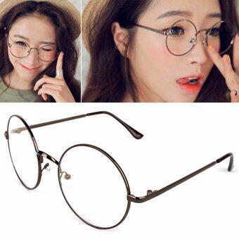 แว่นตากรองแสง แว่นกรองแสง ทรงกลม รุ่น 901 Brown (กรองแสงคอม กรองแสงมือถือ ถนอมสายตา)
