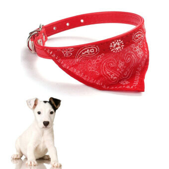 Adjustable Pet Dog Cat Puppies Collars Scarf Neckerchief NecklaceTriangle Red - Intl