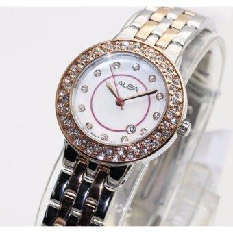 alba modern ladies crystal ah7m28x1 pinkgold 1496579495 58235032 b4f46f3449face92a8923af357f27da3 product ราคาสินค้า นาฬิกา ALBA modern ladies crystal AH7M28X1 สองกษัตริย์ pinkgold