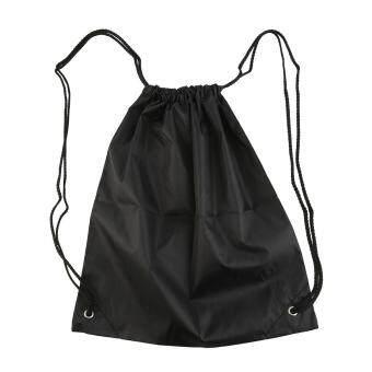 Allwin Premium School Drawstring Duffle Bag Sport Gym Swim DanceShoe Backpack Black