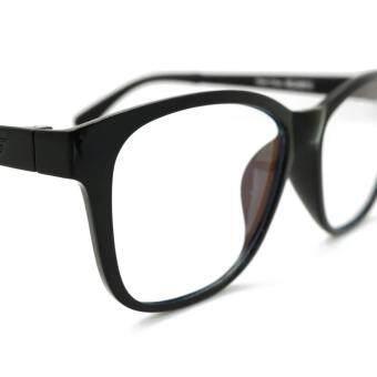 ALP EMI Computer Glasses แว่นคอมพิวเตอร์ กรองแสงสีฟ้า Blue Light Block กันรังสี UV, UVA, UVB กรอบแว่นตา แว่นสายตา แว่นเลนส์ใส Square Style รุ่น ALP-E018-BKS-EMI (Black/Clear) - 4