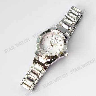 AMERICA EAGLE นาฬิกาข้อมือผู้หญิง สายสแตนเลส รุ่น AE012L - Silver/white - 5