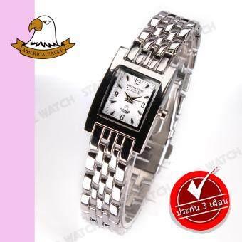 AMERICA EAGLE นาฬิกาข้อมือผู้หญิง สายสแตนเลส รุ่น AE014L - Silver