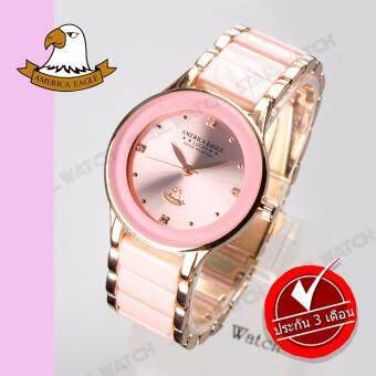 AMERICA EAGLE นาฬิกาข้อมือผู้หญิง สายสแตนเลส รุ่น AE066L - Pink Gold