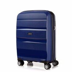 American Tourister กระเป๋าเดินทางรุ่น BON AIR DELUXE  SPINNER 55CM EXP(20นิ้ว) สี MIDNIGHT NAVY