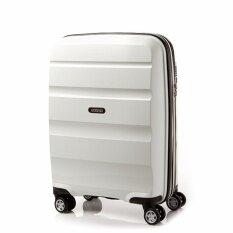 American Tourister กระเป๋าเดินทางรุ่น BON AIR DELUXE  SPINNER 55CM EXP(20นิ้ว) สี WHITE