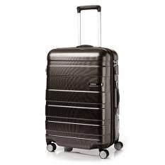 "American Tourister กระเป๋าเดินทางรุ่น HS MV+ Deluxe ขนาด 25"" EXP  สี MATTE BLACK/CHECKS"