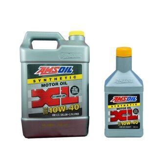 ซื้อ Amsoil น้ำมันเครื่องสังเคราะห์แท้ 100% รุ่น 10W-40 XL (ExtendedLife) สำหรับเครืองเบนซิน ขนาด 3.784 ลิตร + 0.946 ลิตร
